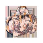 Дорожная сумка Д-82 бежевые цветы.